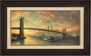 Thomas-Kinkade-SPIRIT-OF-NEW-YORK-Limited-Edition-18x36-Canvas-GP-Framed-SIGNED