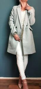 ZARA-nouveau-gris-long-masculin-manteau-taille-XS