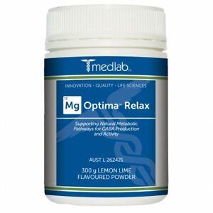 Medlab Mg Optima Relax Lemon and Lime Flavour - 300g Powder