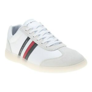 Details about New MENS TOMMY HILFIGER WHITE SEASONAL CORPORATE MIX CUPSOLE TEXTILE Sneakers