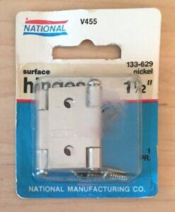 2 pack National Hardware N135-236 V475 Cabinet Hinges in Nickel