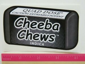 Ganja Pot Sticker Cheeba Chews Indica Hybrid Colorado Legal Cannabis Edibles Ebay