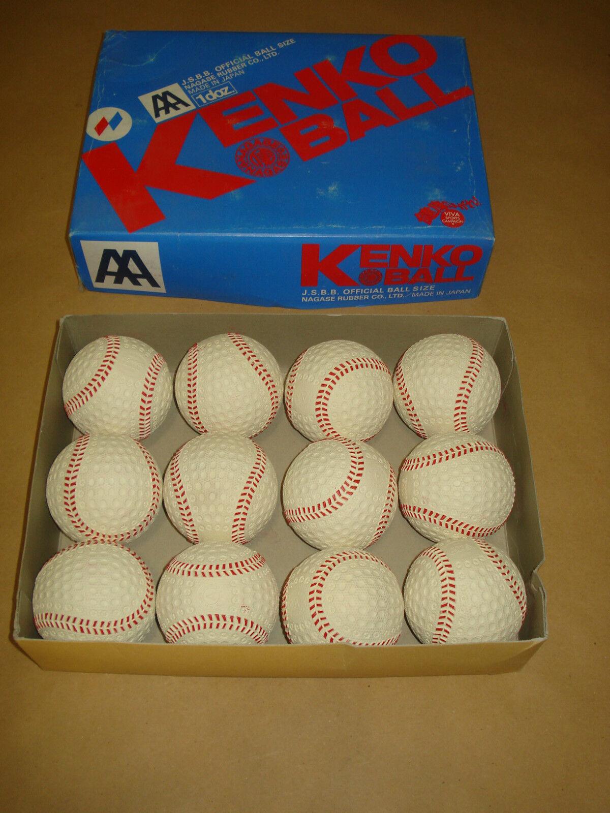 Nagase GOMMA Kenko 9.0 sicurezza una sicurezza 9.0 AEREA Baseballs-UNA DOZZINA – NUOVO-ORIGINALE 0c2ab1