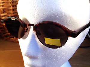 Ladies-Half-Metal-Frame-Tortoiseshell-Grey-Tint-Lens-CE-Sunglasses-UV400-SS50