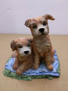 "Cute Pair of dog 1991! TOM RUBEL!  SILVER DEER'S ARK!  5"" TALL! Very unique rare"