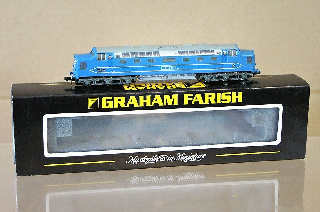 Graham Farish 371-278 Kit Construit Cjm Br blue Predotype Deltic Classe 55 DP1