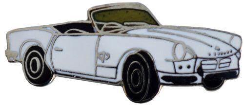Triumph Spitfire MkI//II car cut out lapel pin White