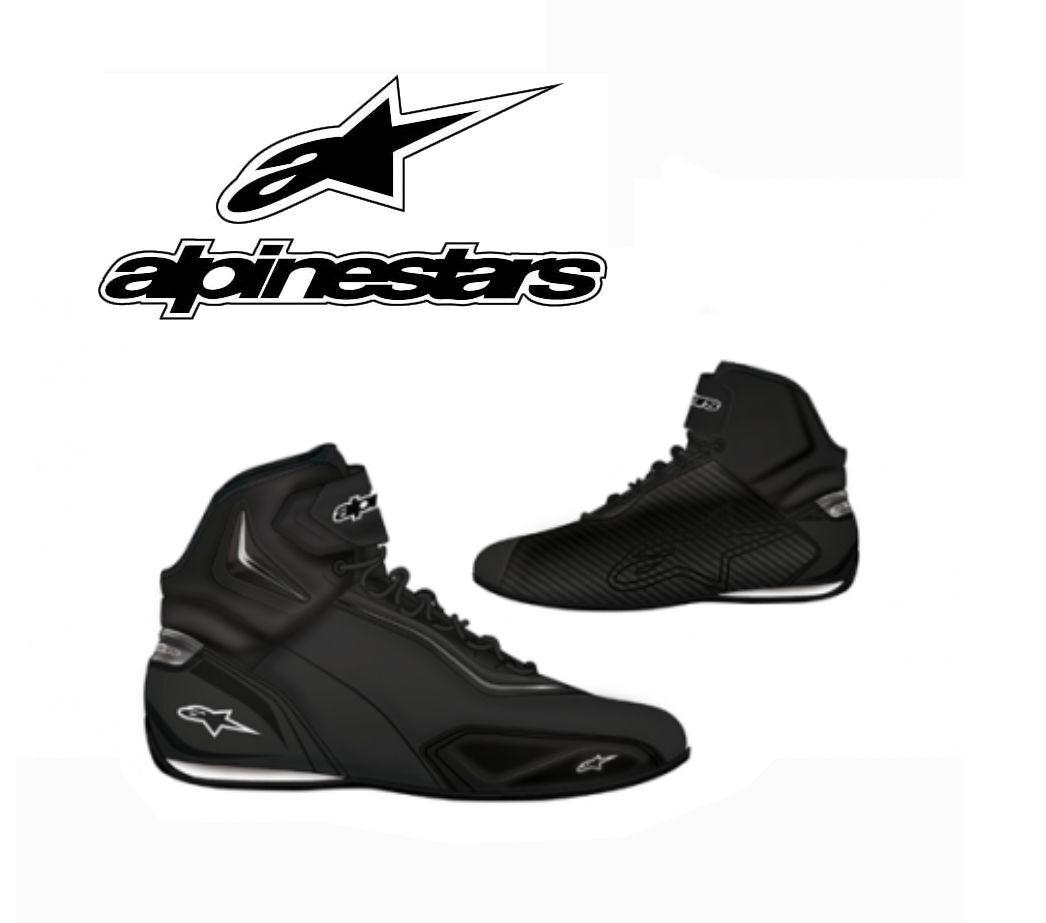 shoes ALPINESTARS Faster 2 black Gun Metal basketball motorrad route leather