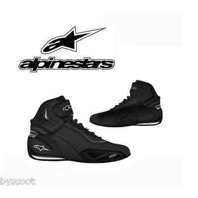 Chaussures ALPINESTARS Faster 2 Black Gun Metal basket noir moto route cuir noir