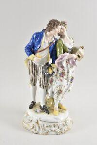 k22u20- Alte Porzellan Figur mit Frankenthal Marke, Paar