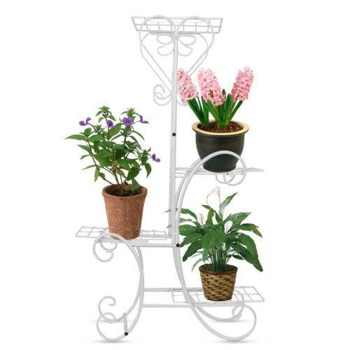 Metall Pflanzentreppe Blumenständer 4-7 Ablagen Blumentreppe Blumenregal 3F DHL