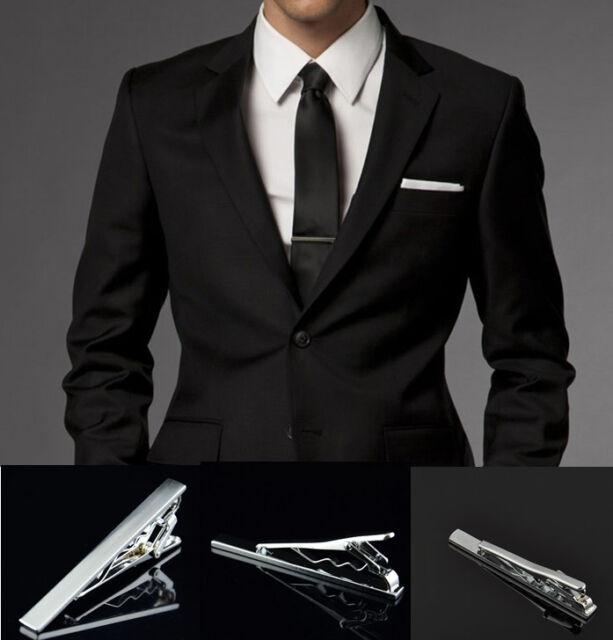 1Pc New Practical Men's Suit Dress Shirt Necktie Tie Bar Clasp Clip Cufflinks