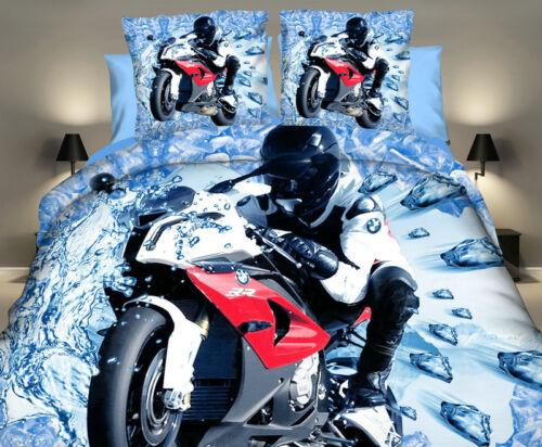 Children Bedding Duvet Quilt Cover Set Boys Man Cars Motorcycle Truck Digger