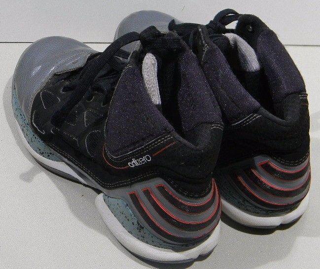 Adidas basketball männer adizero ros - basketball Adidas - schuhe 11m uns schwarz - silber 8fa6de