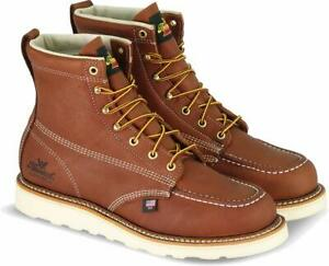Thorogood-American-Heritage-Men-039-s-6-034-Moc-Toe-Max-Wedge-Non-Safety-Boots