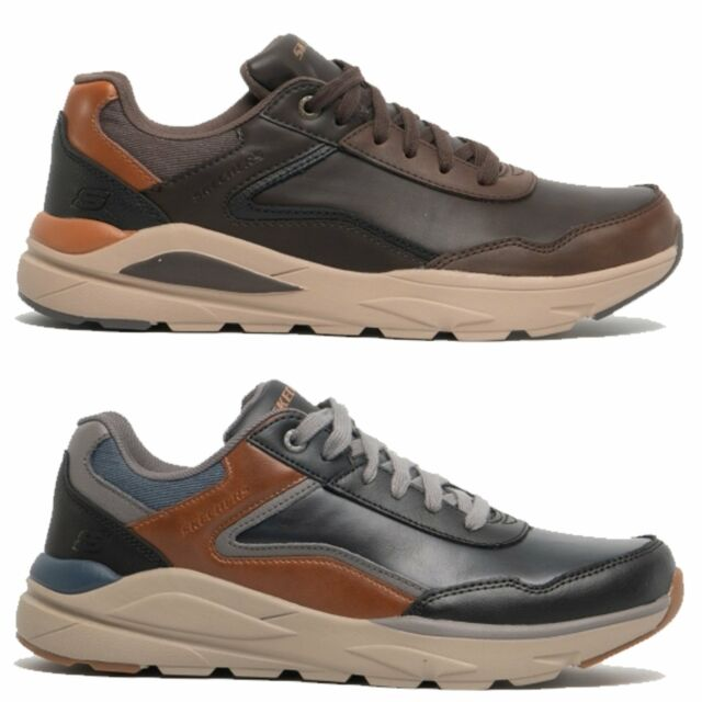 Skechers VERRADO CRAFTON Mens Genuine Leather Memory Foam Casual Trainers