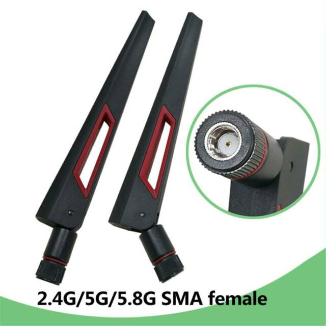 2.4G//5.8G//5G 8dbi Dual Band Wireless WiFi Router Antenna SMA Jack Male F Nd