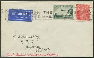 Aerophilately-1-June-1930-AAMC-161-Melbourne-Sydney-ANA-Inaugural-Service
