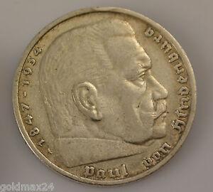 Drittes-Reich-5-Reichsmark-Silbermuenze-1935-A-Paul-von-Hindenburg
