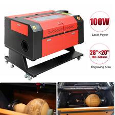 100w Co2 Laser Engraver Cutter 28x20 Engraving Cutting Machine Usb Laser Cad