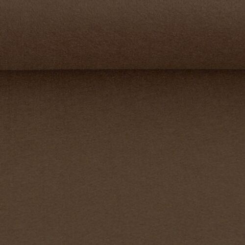 Kreativstoff Filz einfarbig dunkelbraun 180cm Breite 2mm Stärke