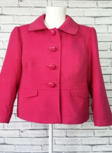 Fuchsia 18 Peplum Coat Mark Spencer Pretty Buttons Jacket Ladies 8vvIUx5
