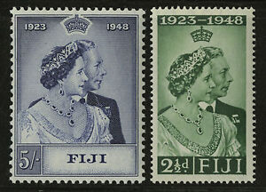 Fiji 1948 Scott # 139-140 Mint Lightly Hinged Set