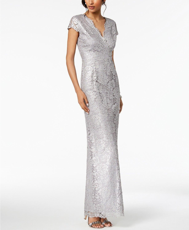 Adrianna Papell Metallic Lace Robe de fabricants Standard prix de détail  229 taille 2   3B 561 NEUF