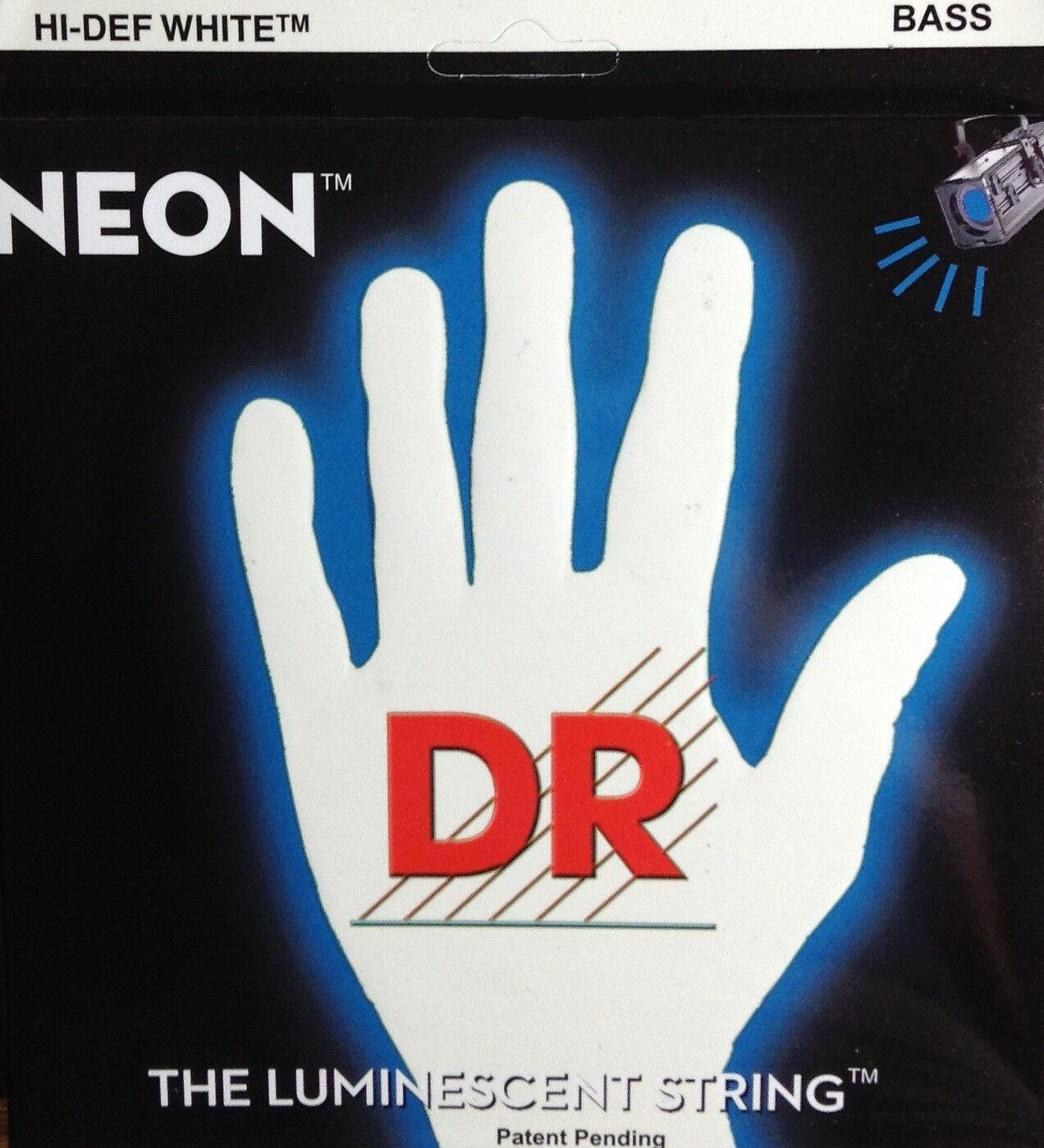 El Dr. Dr. Dr. Nwb5-45 Neon blancoo Cuerdas De Guitarra De 5 Cuerdas Set 45-125  primera vez respuesta