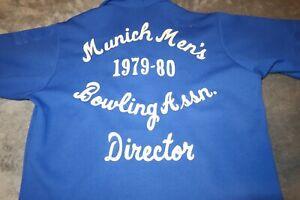 1979-1980 München Herren Bowling Association Hemd Medium King Louie Größe Medium