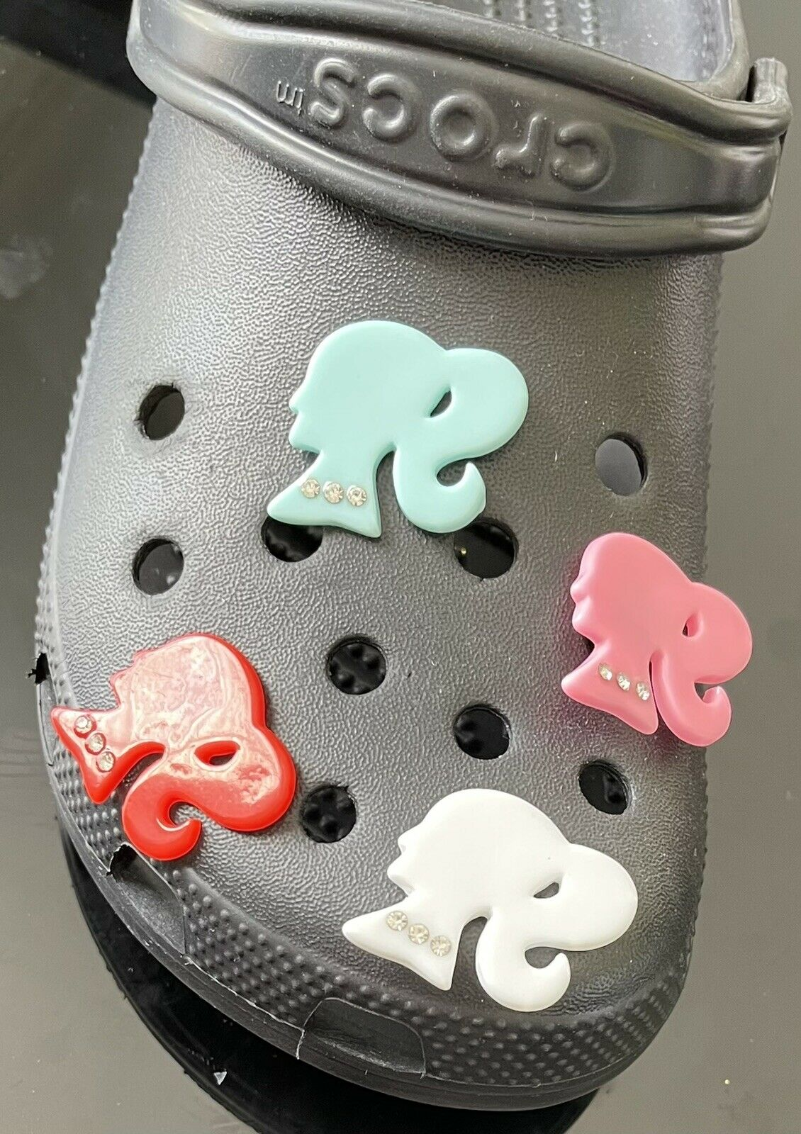 1 crocs inspired charms - Barbie/girl Pick 1 Color