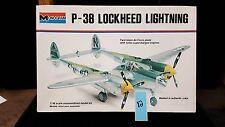 Monogram P-38 Lockheed Lighting 1/48 scale twim boom Air Force Plane lot 82