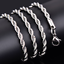 2-4mm-Fashion-925-Silver-Solid-Twist-Rope-Chain-Necklace-Wedding-Jewerly-16-30-034 thumbnail 3