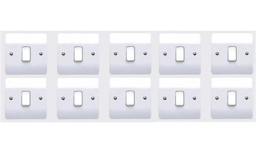 10 X MK Electric K4871WHI Single Light Switch 1 Gang 2 Way 10 Amp Logic Plus NEW