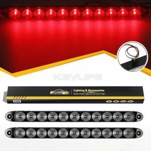 Red LED Light Bar Truck Trailer Boat RV Lights