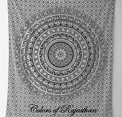 Indian Elephant Hippie Wall Hanging Mandala Tapestry Dorm Throw Ethnic Bedspread