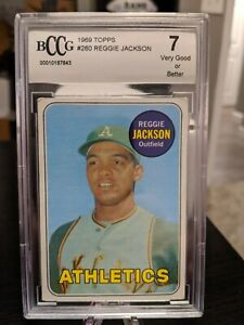 1969-Topps-Reggie-Jackson-260-A-039-s-BCCG-7-Oakland-A-039-s-New-York-Yankees-HOF
