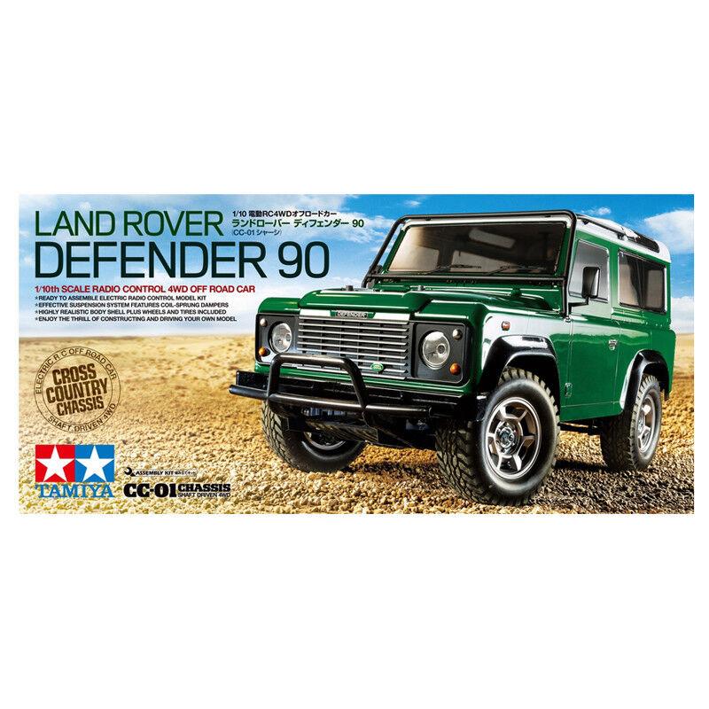 Tamiya Radio Control Land Rover Defender Car Model Set Kit (Scale 1 10) 58657