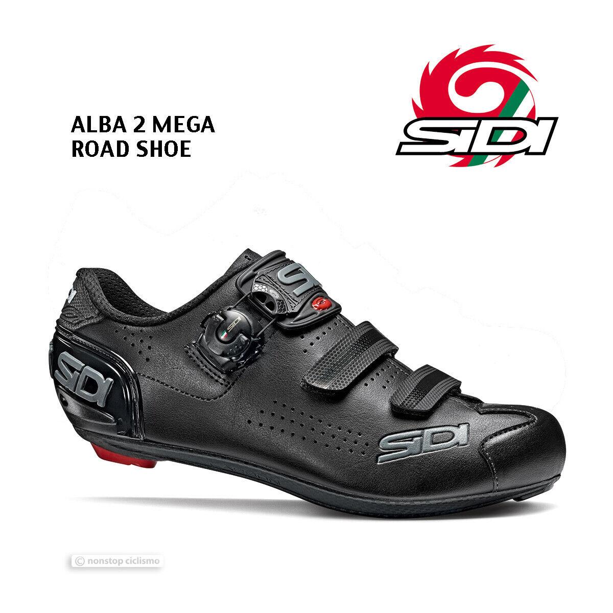 NEW 2020 Sidi ALBA 2 MEGA Road Cycling schuhe   schwarz schwarz