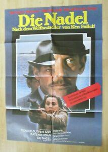 Filmplakat : Die nadel ( Donald Sutherland , Ken Follett ) - Braunschweig, Deutschland - Filmplakat : Die nadel ( Donald Sutherland , Ken Follett ) - Braunschweig, Deutschland