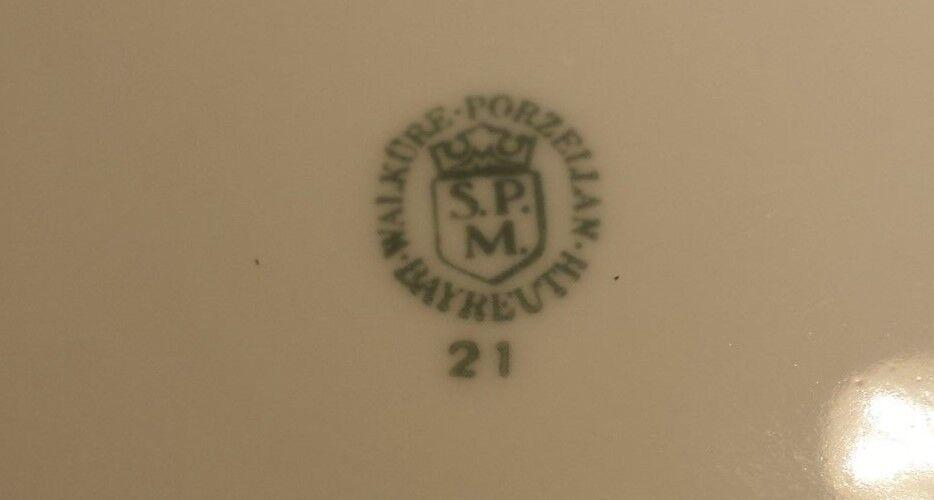 SPM Walküre Walküre Walküre Porzellan Nr.47  Speiseteller 24,3 Rand 2,2cm Kuchenteller 20,3cm | Angemessener Preis  bcd34b