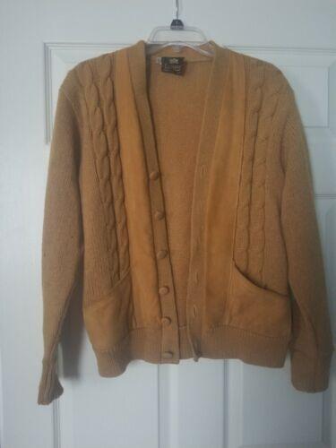 Vintage 1950s Campus Cardigan Long Sleeve Wool Sue