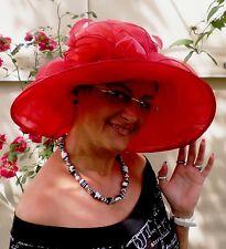 Damenhut Anlasshut traumhaft von SEEBERGER in Rot ruby red Hochzeit Damenhüte