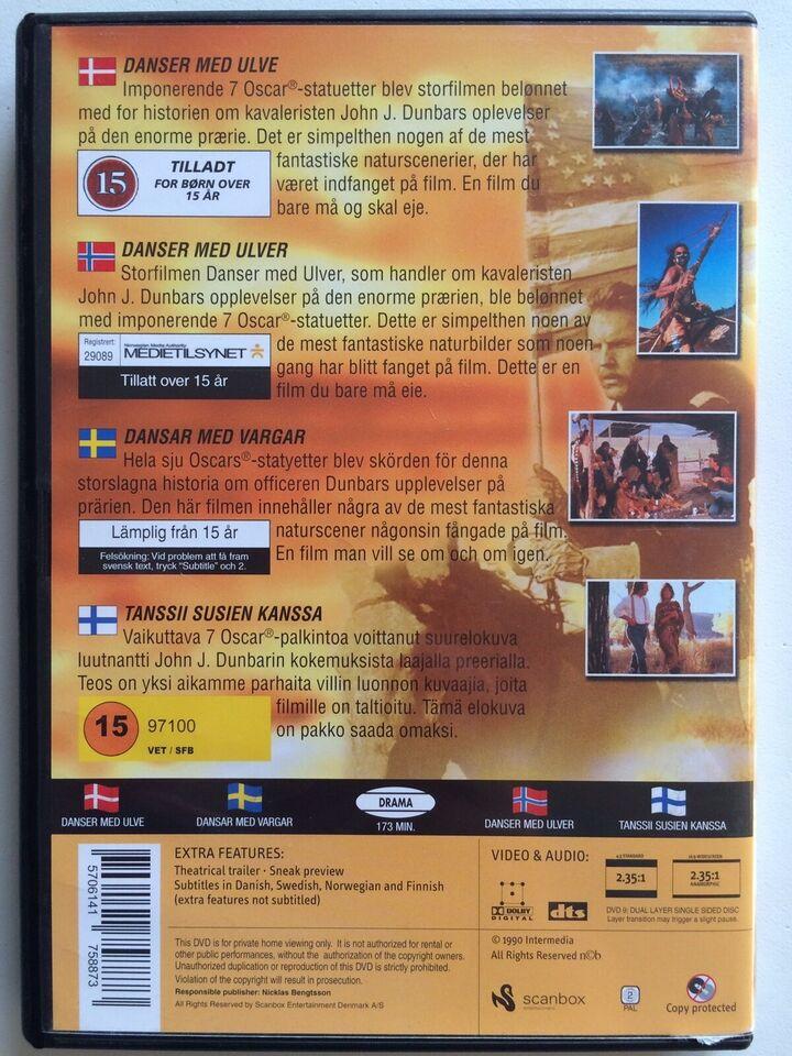 Dances With Wolves, instruktør Kevin Costner, DVD