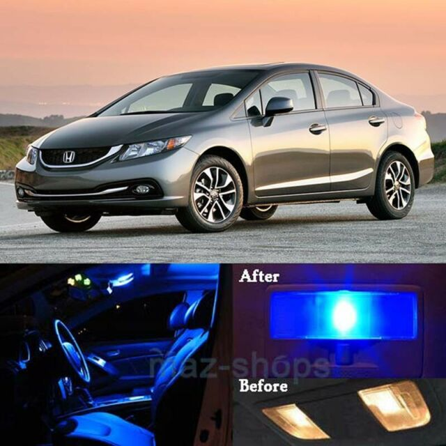 Interior Light LED replacement kit for HONDA CIVIC VIII 8pcs BLUE