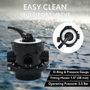 """vidaXL Multiport Valve Sand Filter ABS 1.5"""" 4-Way Top Mount Pool Water Tap"""