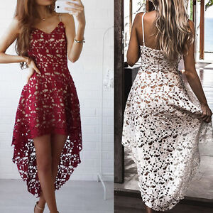 Sexy-Womens-Sleeveless-Lace-Floral-V-Neck-Cocktail-Formal-Swing-Irregular-Dress