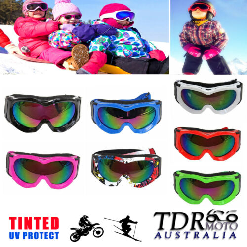 BRAND NEW UV PROTECTION ANTI UV SAFETY SKI SNOWBOARD SKATE GOGGLES YOUTH KIDS