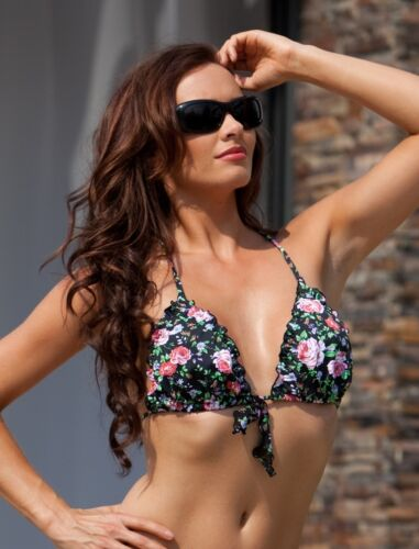 "POUR Moi /""Gypsy/"" dietro il collo cravatta succinti bikini Top in Nero//Multi"