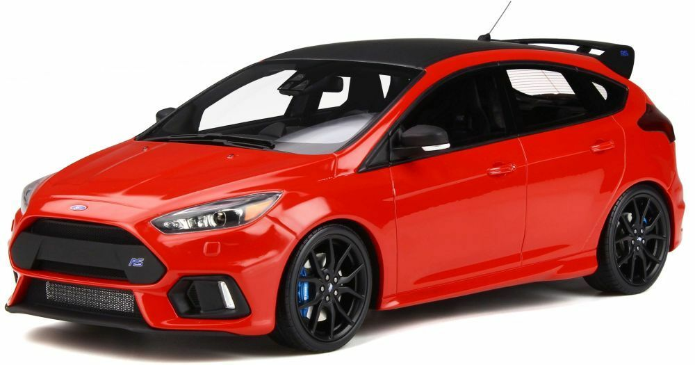 OTTO MOBILE 802 FORD FOCUS RS in resina modello Road Car Race Rosso Corpo Scala 1 18th